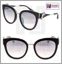 156938c2fbcd JIMMY CHOO JADE Black Silver Mirrored Detachable Crystal Jewel Fan  Sunglasses