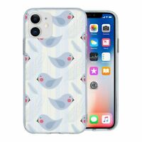 For Apple iPhone 11 Silicone Case Birds Pattern - S3028