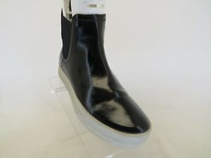 Timberland Black Patent Leather Chelsea Ankle Boots Bootie Womens Size 7.5 M
