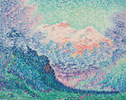Paul Signac Abstract Landscape with Mountain Painting Print Canvas Repro Small