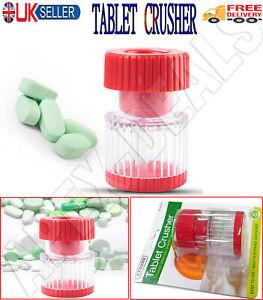 2 In 1 Pill Crusher Storage Pot Grinder Medicine Tablet Divider Portable Hold UK