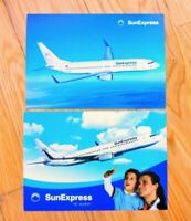 2x SUNEXPRESS TURKEY BOEING 737-800 Airline Issued Postcards Charter Airline