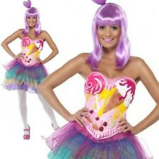 Candy Queen Costume Ladies Katy Perry Fancy Dress Pop Star Diva Outfit