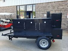 Godzilla Bbq Smoker 36 Grill Trailer Food Truck Mobile Catering Concession Cart