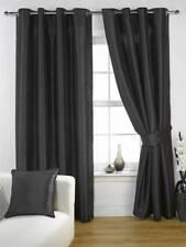 Rideaux et cantonnières noirs modernes pour la chambre à coucher