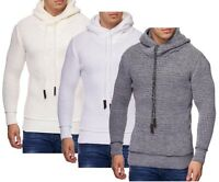 Men's Knitted Hoodie Sweater Pullover Jumper Long sleeve top BIG size S - 5XL