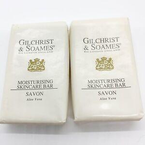 Gilchrist & Soames Cleansing Bar Savon Savon Aloe Vera 1.5 oz Lot of 2 England