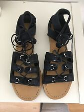 Whistles Black Lace Up Sandals  - Size 41