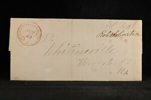 Free Frank: Johnson, Robert 1837 Stampless Cover, 2nd Assist Postmaster General