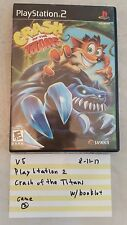 PlayStation 2 / Crash of the Titans / w/ booklet VG Video Game 81117
