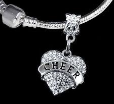 cheer charm Cheerleader charm cheering charm European style charm  (charm only)