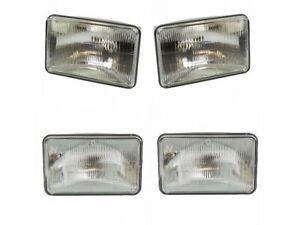 For 1982-1986 GMC K1500 Suburban Headlight Assembly Set 37967WW 1983 1984 1985