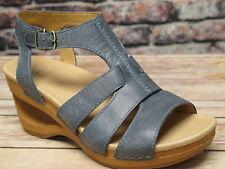 Dansko Trudy Waxy Calf Denim Leather Sandal  *3414-721500