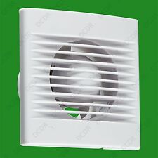 "1x White 100mm 4"" Bathroom Toilet Extractor Fan Vent With Overrun Timer"