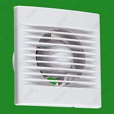 """Blanco 1x 100mm 4"""" Ventilador de Baño Inodoro Extractor Temporizador De Desbordamiento de ventilación con"""