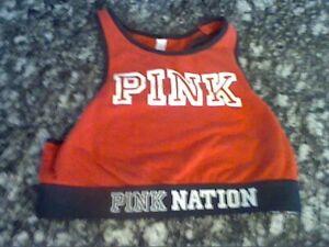 "Victoria's Secret ""PINK""Women's Size Small Red Sports Bra"
