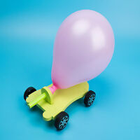 DIY Balloon Reaction Car Educational Toys Science Experiment Toys Kids Gift