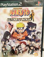 PlayStation 2 Ps2 Video Game Shonen Maruto Ultimate Ninja Complete Set F/s