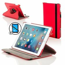 Piel Rojo Giratorio Smart Case Funda para Apple iPad Pro 12.9 Pantalla Prot