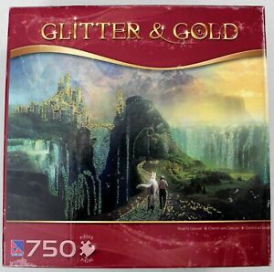 Road to Oalovah - Glitter & Gold 750pc. Jigsaw Puzzle - Sure-Lox - Castle/Horse