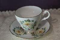 ROYAL ASCOT BONE CHINA TEA CUP AND SAUCER YELLOW ROSE MADE IN ENGLAND