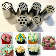 6 Russian Icing Piping Nozzles Cake Sugarcraft Decor Tips Pastry Baking Tool US