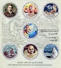 India 2018 MNH Mahatma Gandhi 7v M/S Historical Figures Famous People Stamps