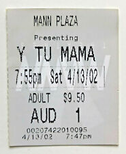 2002 Y Tu Mama Tambien Movie Ticket Stub 4/13/02 - Westwood, Ca. - Free Shipping