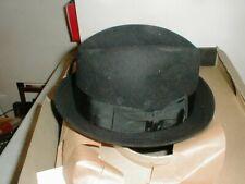 Vintage Towncraft Black Fedora Felt Hat Xxxx Beaver Size 6 7/8 in Original Box