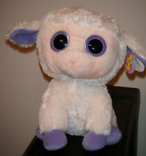 """Ty Beanie Boos ~ CLOVER the Lamb 9"""" BUDDY Size ~ MINT with MINT TAGS ~ RETIRED"""