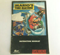 Mario's Time Machine - SNES Game Instruction Booklet Manual - Super Nintendo