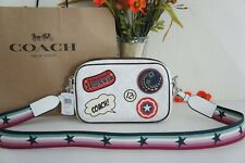 Coach X Marvel 2538 Jes Crossbody in Signature Canvas With Patches