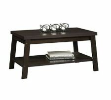 Mainstays Logan Coffee Rectangular Table Home Furniture - Espresso