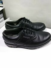 FootJoy Mens Golf Shoes Black Saddle Oxford Soft Cleats Sz 7 M