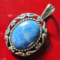Carolyn Pollack Southwest 925 sterling silver 8.4ct blue lapis pendant 7.8g