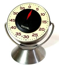 TAYLOR GOURMET Manual 60 Minute Tilting Stand Up Stainless Steel* Kitchen Timer