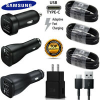 OEM Samsung Galaxy S8 S9 S10 Plus Note 8 Fast Charger Car Wall Plug Type-C Cable
