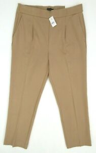 NEW! Ann Taylor The Easy Ankle Pants High Rise Pants Rich Camel Size LARGE