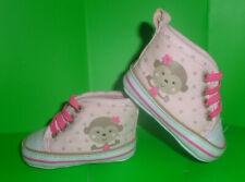 Vguc Circo Pink Polka Dot Monkey Newborn Elastic Slip on Hi Top Sneakers