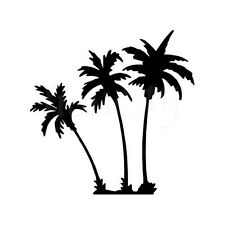 Palm Trees Window Glass Wall Sticker Laptop Truck Vinyl Black Decal Sticker Gift