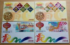2000 Malaysia Year of Dragon 10v Stamps, 2 MS on 4 FDC (Melaka + Special Cachet)