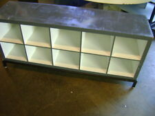 RETAIL GREY & WHITE CUBE STORAGE DISPLAY TABLE CABINET