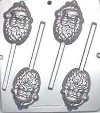 Santa Claus Face Lollipop Chocolate Candy Mold Christmas 2050 NEW