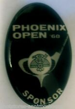 Phoenix Arizona Golf Open Button 1968 Sponsor Promotional Pin
