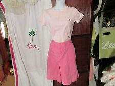 LILLY PULITZER GOLF SHORTS 12 PINK  100% COTTON RESORT FIT