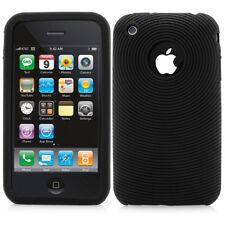 iPhone 3 3G Outdoor Bumper Silikon Case Schutz Hülle Rillen kreisförmige schwarz