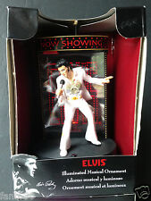 ELVIS PRESLEY Santa Claus is back in Town  Illuminated Musical STAGE   Ornament