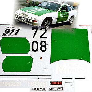 Porsche 924 Autobahn Polizei Germany 1985 Police Cars 1:43 Decal Abziehbild