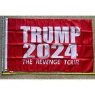 Donald Trump Flag FREE SHIPPING 2024 Revenge Tour R Desantis Army USA Sign 3x5'