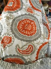 Threshold Suzanni Duvet Cover Pillow Shams Orange Gray Medallion Bed spread KING